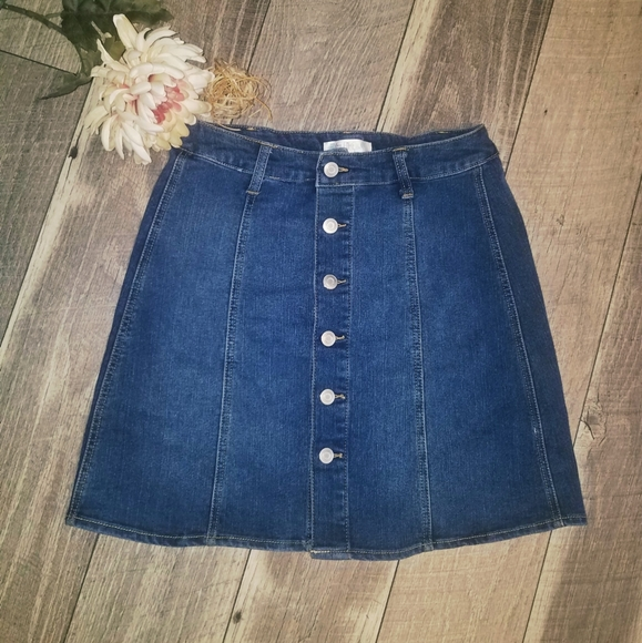 love, Fire Dresses & Skirts - Love Fire short denim button down skirt
